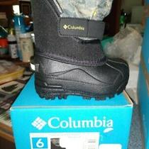 Nib New Columbia Sz 6 Toddler Winter Boots Boy Black Toddler Printed Twin Tundra Photo