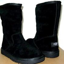 Nib New Girl's Ugg Australia Lil Sunshine Boots 2 (Fit Womens Size 4) Black Photo