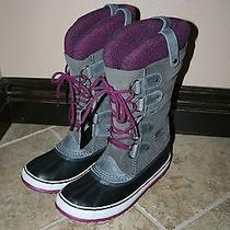 Nib New Sorel Joan of Arctic Knit Boots Shale Size 9 Photo
