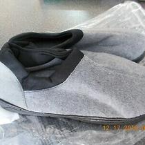 Nib New Women's Grey Slippers House Shoes - Size 5 6  (S) Indoor Outdoor Sole Photo