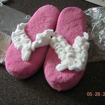 Nib New Xl (11 12) Pink Soft and Plush Memory Foam Slippers  Photo