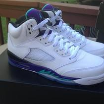 Nib Nike Air Jordan Retro 5 Grape Boys Size 6 6y Gs Grapes Aqua Playoff 2013 Photo
