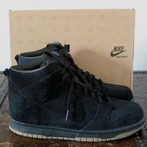 Nib Nike for a.p.c. Dunk High '08 Apc Sp Black Suede Leather Us Sz 10 Uk 9 New  Photo