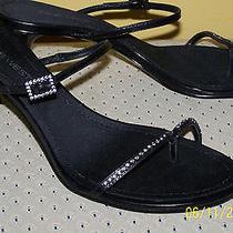 Nib Nine West Black Jeweled Sandal Shoes Size 8.5 M Wedding/prom/evening/ Shoe Photo