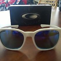 Nib-Oakley Sunglasses Garage Rock Polished White With Violet Iridium Photo