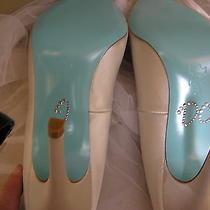 Nib Pour La Victoire Floral Wedding Bridal Shoes  Rhinestone Bow