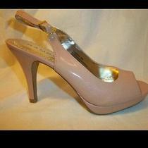 Nib Rampage Patent Leather Platform Pumps 6 Peep Toe Sandals Heels Strappy Shoes Photo