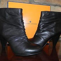 Nib Size 10 Arturo Chiang by Vince Camuto Group Gynny Black Leather Ankle Boots Photo