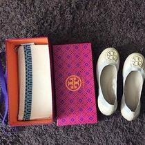 Nib  Size 9..5 Tory Burch Leather Caroline Ballet Flats Shoes Camilla Pink Nude  Photo