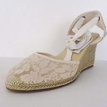 Nib Soludos Womens Chantilly Lace Espadrille Tall Wedge Sandal Sz 10 M Blush 95 Photo