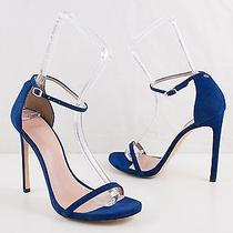 Nib Stuart Weitzman Nudist Blue Goosebump Sandal Heels Us 10.5 M Photo