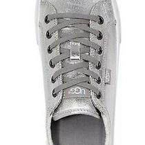 Nib Sz 9 Ugg Australia Women Aries Fashion Metallic Silver Lace Up Sneaker Shoes Photo