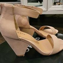 Nib Torrid Shoes - Blush Ankle Strap Cone Heel - Size 7w Photo