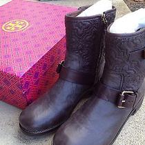 Nib Tory Burch Chrystie 40mm Quilted Leather Bootie in Coconut (Brown) Size 7.5 Photo