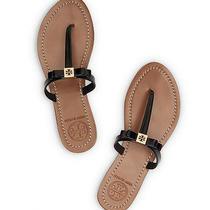 Nib Tory Burch Leighanne Bow Thong Sandals Black 11 M Photo