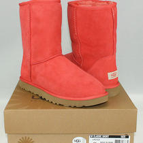 Nib Ugg Australia Boots - Classic Short - Lipstick Red - Women's Us Size 11 Photo
