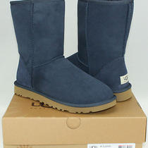 Nib Ugg Australia Boots - Classic Short - Navy Blue - Women's Us Size 8 Photo