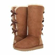 Nib Ugg Bailey Bow Tall Ii Boots Chestnut Womens Us 9 Authentic Photo