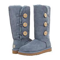 Nib Ugg Bailey Button Triplet  Tripple Boots Dolphin Blue Women's Size 8 220 Photo