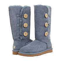 Nib Ugg Bailey Button Triplet  Tripple Boots Dolphin Blue Women's Size 8 220 Photo