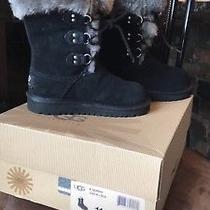 Nib Ugg Boots Girls Sz11 Black  Photo