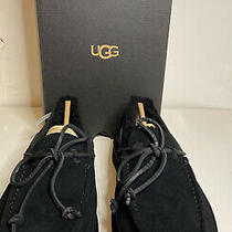 Nib Ugg Dex Lace Slip on Black Suede Leather Slippers Shoes Us Size 10 Photo