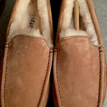 Nib Ugg Men's Ascot Suede 'Chestnut' Slippers Size 8m Photo