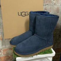 Nib Ugg Women's Classic Short Ii Winter Boots Navy Suede Authentic - Pick Size Photo