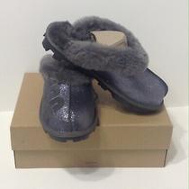 Nib Ugg Women's Coquette Sparkle Slip on Slippers Black Size 8 1098190 130.00 Photo