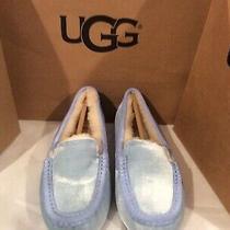 Nib Ugg Women's Slippers Ansley Blue Velvet Slippers/moccasins Size 8 110 Photo