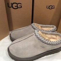 Nib Ugg Women's Slippers Seal Grey Tasman Suede Slippers/moccasins Size 7 120 Photo