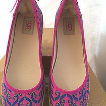 Nib Ugg Womens Us Sz 8.5 Indah Marrakech Rsps Pink/blue Ballet Flats1002691 Photo
