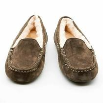 Nib Ugg Womens Ansley Moccasin Slippers in Chocolate Sheepskin - 10 Us / 41 Eu Photo