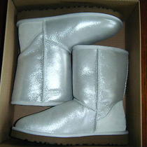 Nib Ugg Womens Classic Glitter Boots Cloud Size 6 Photo