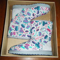 Nib Ugg Womens Classic Graffiti Boots Size 11 Photo