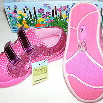 Nib Western Chief Girls Pink Sparkle Shine Sneakers Size 9 494693 Photo