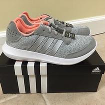 Nib Women's Adidas Element Refresh Running Shoes Grey/silver/peach Size 10 Photo