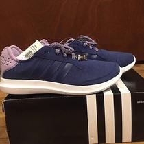 Nib Women's Adidas Element Refresh Running Shoes Navy/purple Size 8 Photo