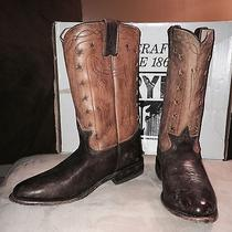 Nibwomen's Frye Wyatt Americana Cowboy Boot Dark Brown Distressedsize 7.5 Photo