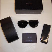 Nib-Women's Prada Sunglasses Style Spr06n Color-Black/grey-139.90 Photo