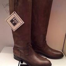 Nib Womens Frye Lindsay Plate Fawn Knee-High Leather Boots 76976 Sz 9.5  New Photo