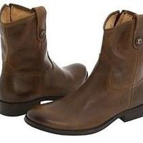 Nib Womens Frye Melissa Shortie Button Brown Leather Boots 77899 Sz 8 New Photo