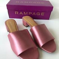 Nib Womens Rampage Pink Satin Sandals Size 9 Sandals Photo