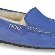Nib Womens Ugg Australia Ansley Ddpw Deep Periwinkle Blue Slipper Moccasins Sz 5 Photo