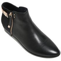 Nib Yosi Samra Kate Two Tone Zipper Ankle Boots Black Ponyhair Size 10 179 Photo