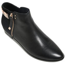Nib Yosi Samra Kate Two Tone Zipper Ankle Boots Black Ponyhair Size 9 179 Photo