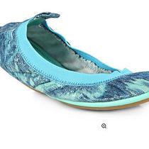 Nib Yosi Samra Samara Tie Dyed Snakeskin Ballet Flats in Turquoise Size 6 - 79 Photo