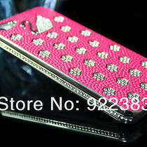 Nibb Case 2 Pc Luxury Swarovski Chrome Swan Bling Diamond Cover Iphone 5 5g Photo