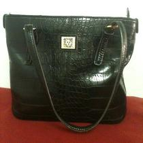 Nice Anne Klein Black Croc Tote. Guc Photo