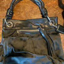 Nice Authentic Coach Black  Parker Op Canvas Satchel Handbag Photo